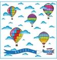air balloon composition vector image vector image
