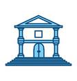 bank building symbol vector image vector image