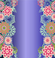 Beautiful floral decorative background vector image vector image