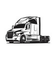 big truck black and white vector image vector image