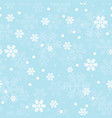 blue christmas snowflakes seamless pattern vector image vector image
