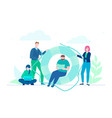 business cooperation - flat design style vector image