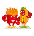cartoon fast foods vector image vector image