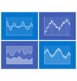charts collection blue poster vector image