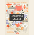christmas market poster with handmade items vector image