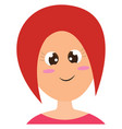 Clipart a smiling woman with red hair set over