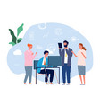 colleagues help work mutual assistance teamwork vector image vector image