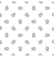 Colorado bugs seamless pattern vector image