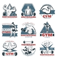 Colored Body Building Emblem Set vector image