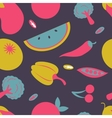 Colorful fresh fruit and vegetables seamless vector image vector image