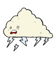 comic cartoon thundercloud vector image vector image