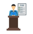 Conference speaker isolated vector image vector image