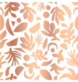 copper foil abstract floral plant shapes seamless vector image vector image