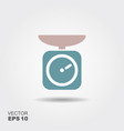 domestic kitchen weigh scales icon in flat vector image vector image