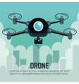 drone flying city graphic vector image vector image