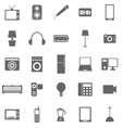 Electrical Machine icons on white background vector image vector image