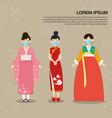 epidemics virus informationasian national costume vector image vector image