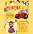 farmer agronomist agriculture farm profession vector image vector image