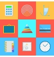 Flat icons for outsource work vector image