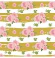 Floral peony retro vintage background vector image vector image