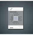 flyer or banner Brochure template design vector image vector image