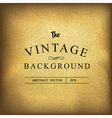 golden vintage background template vector image