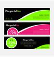 green web banners templates horizontal web banner vector image vector image