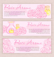 hand drawn banner with rose and oil burner vector image