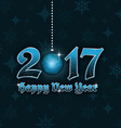Happy New Year 2017 background with hanging bauble vector image vector image
