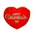 Happy Valentines Day Hearts on vector image vector image
