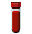 Human blood in test tube
