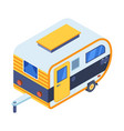 isometric camping trailer icon vector image