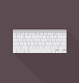 keyboard icon top view vector image vector image