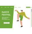 landing page dance festival concept vector image