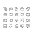 line application icons vector image vector image