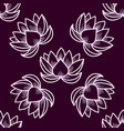 lotus seamless pattern oriental traditional vector image vector image