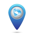 Map pointer with jewel icon vector image vector image