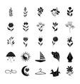 minimalist tattoo vintage style silhouette art vector image vector image