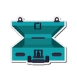 open travel suitcase icon vector image vector image