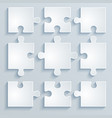 parts of paper puzzles vector image vector image