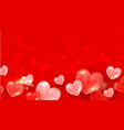 realistic flying love elements for romantic vector image vector image