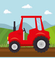 red tractor design vector image vector image