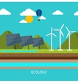 Renewable energy like hydro solar and wind power vector image vector image