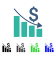 sales crisis chart flat icon vector image vector image