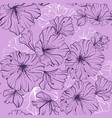 seamless pattern dark flowers in one paint on a vector image vector image