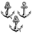 set of vintage anchor design element for poster vector image