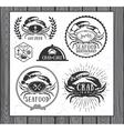 Set of vintage seafood labels badges and design vector image