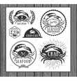 set vintage seafood labels badges and design vector image vector image