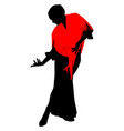 silhouette of flamenco dancer vector image