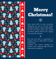snowman pattern christmas card vector image